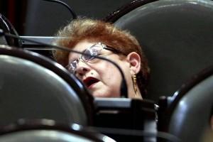 Legisladora duerme