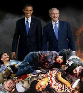 Obama y Bush