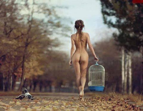 desnudo jaula